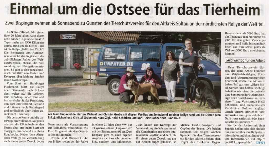 BZ - Ostsee-Rallye - 12.06.2015