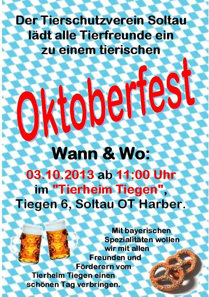 einladung oktoberfest | tierschutzverein soltau, Einladung