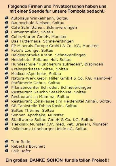 Sponsorenliste 2016